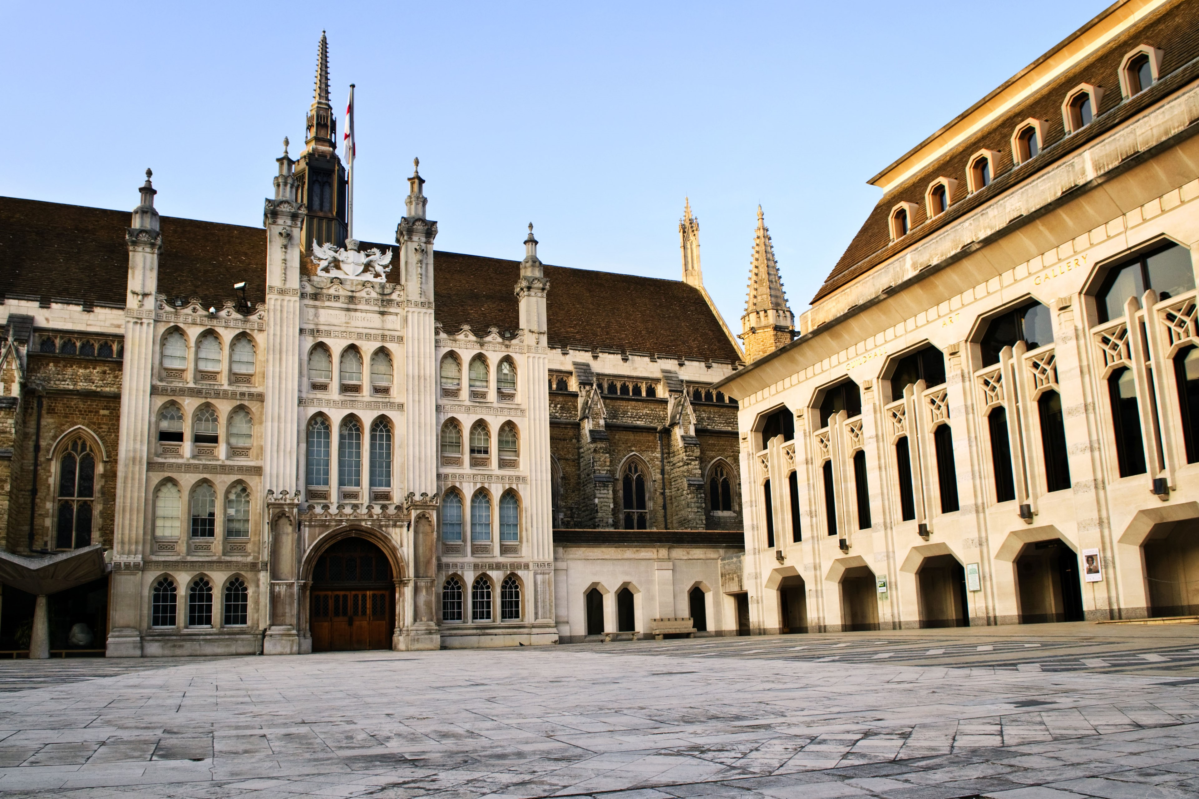 The Guildhall building in the city of London