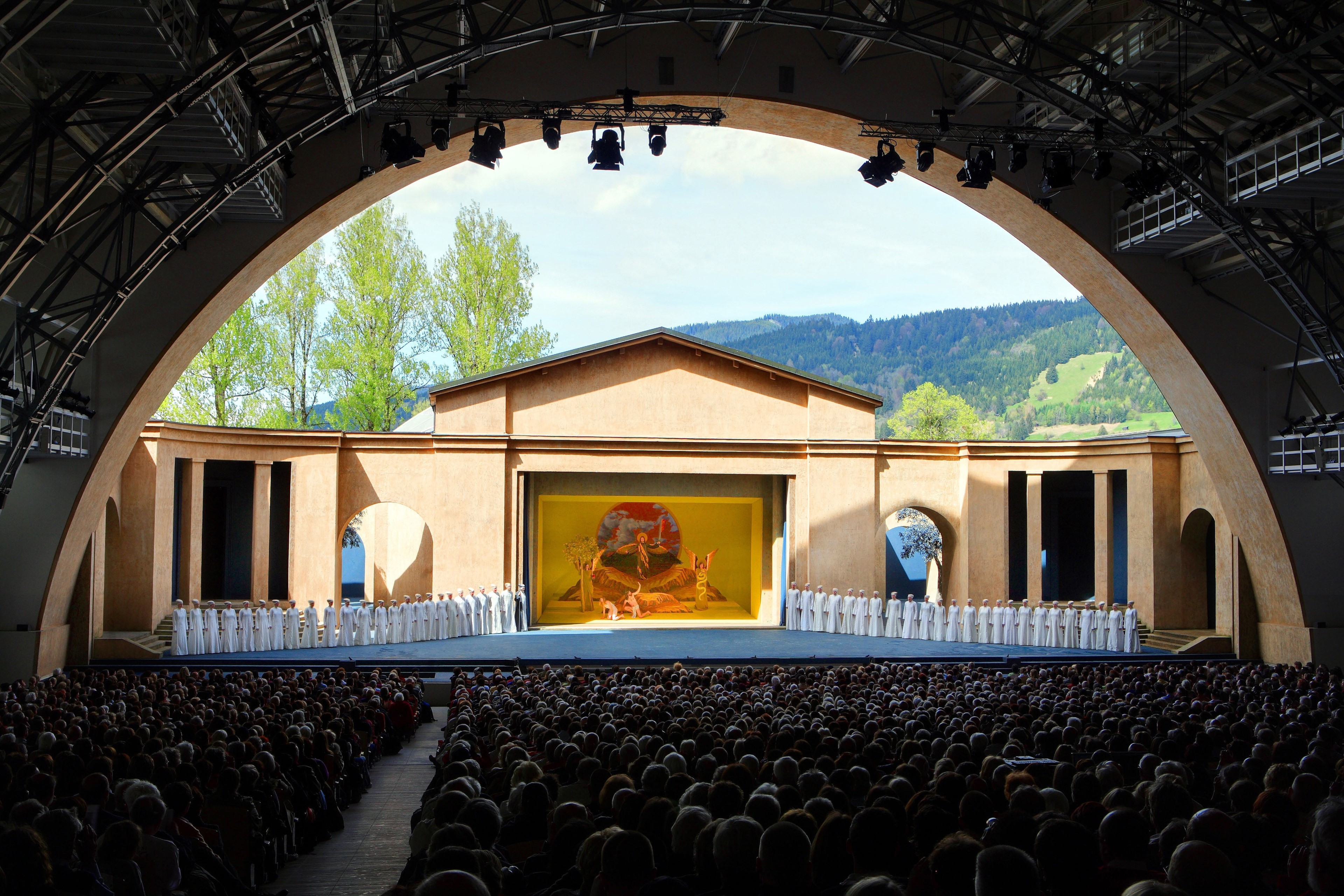 The Passionstheater in Oberammergau, where the legendary play is hosted each decade